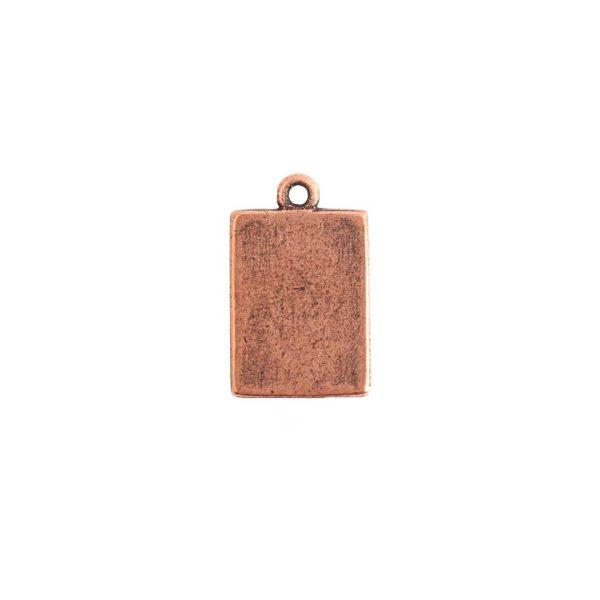 Mini Link Single Loop Rectangle Antique Copper