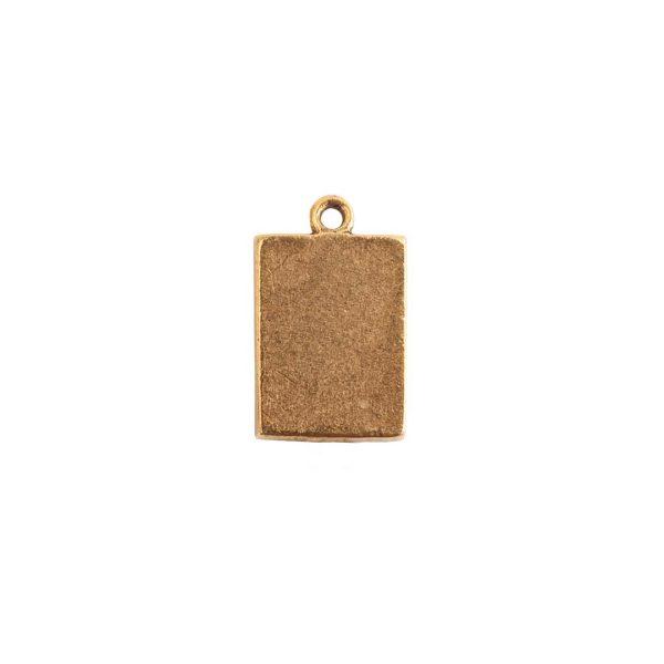 Mini Link Single Loop Rectangle Antique Gold