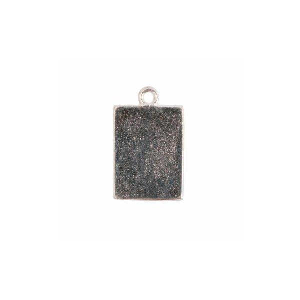 Mini Link Single Loop Rectangle Sterling Silver Plate