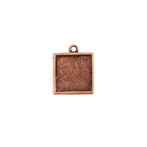 Mini Link Single Loop Square Antique Copper