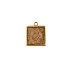 Mini Link Single Loop Square Antique Gold