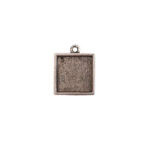 Mini Link Single Loop Square Antique Silver
