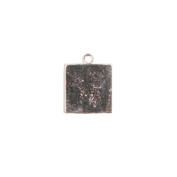 Mini Link Single Loop Square Sterling Silver Plate