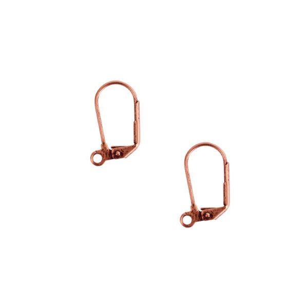Ear Wire Leverback LargeAntique Copper Nickel Free