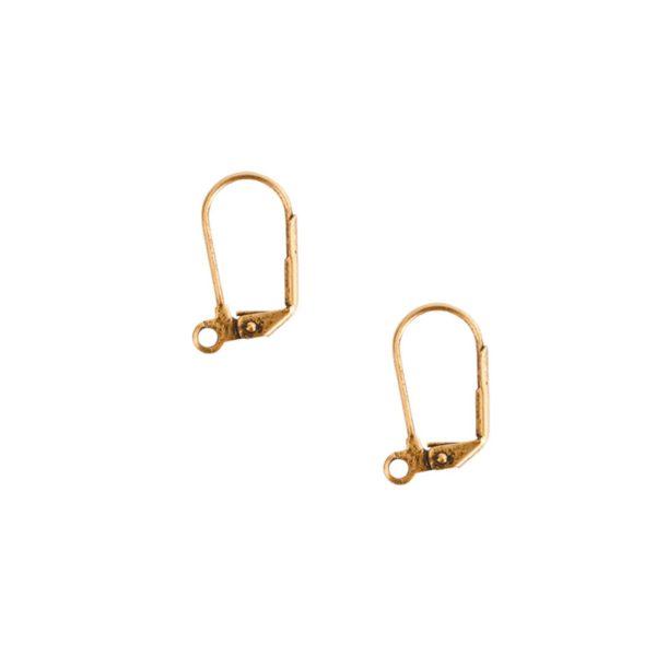 Ear Wire Leverback LargeAntique Gold Nickel Free