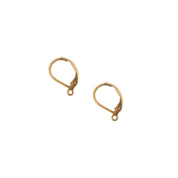 Ear Wire Leverback SmallAntique Gold Nickel Free