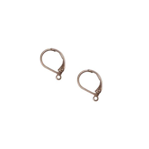 Ear Wire Leverback SmallAntique Silver Nickel Free