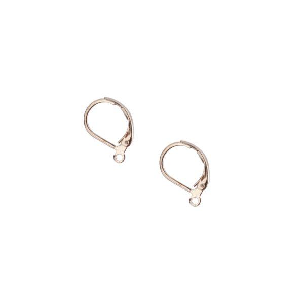 Ear Wire Leverback SmallSterling Silver Plate Nickel Free