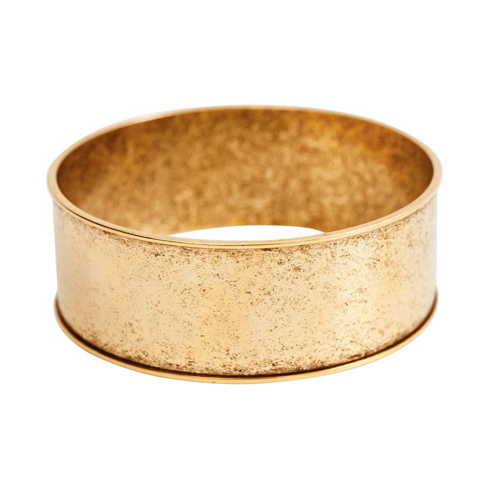 Bangle Bracelet Channel 1 Inch Width Antique Gold