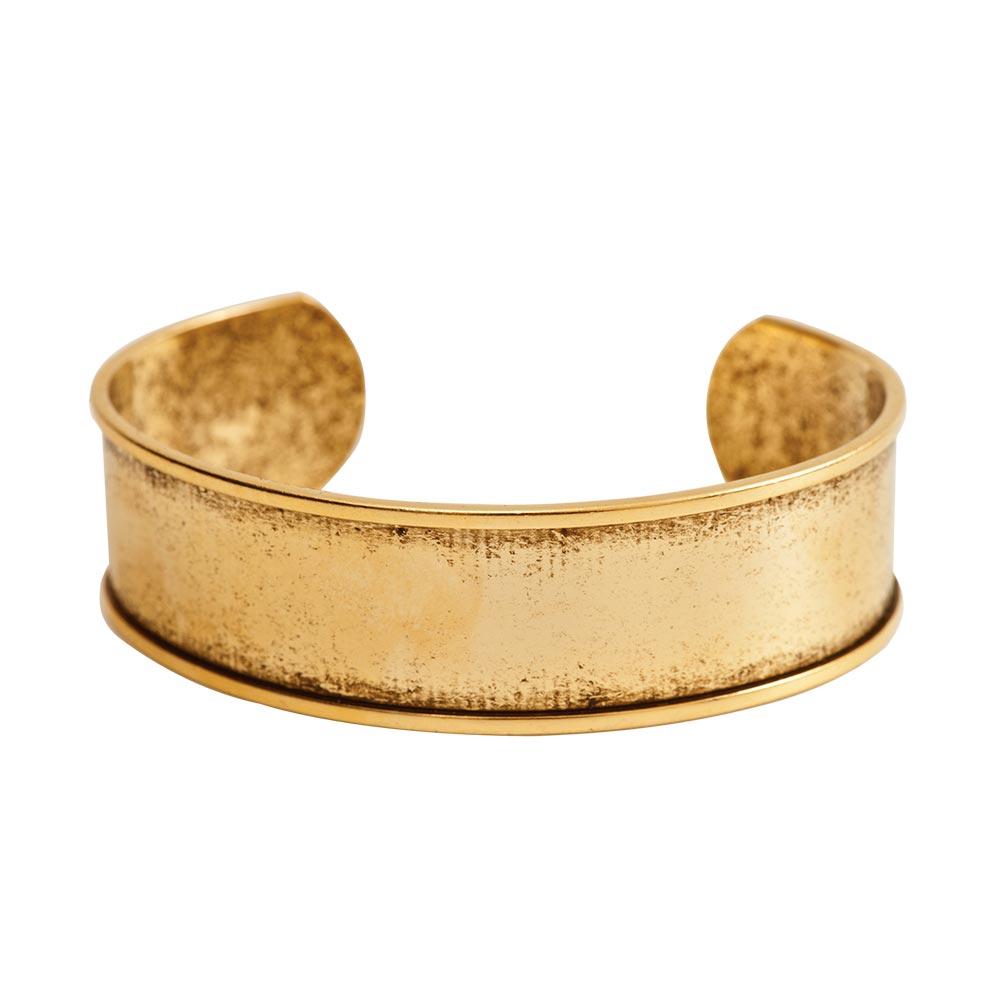 Cuff Bracelet Channel 75 Inch Width Antique Gold