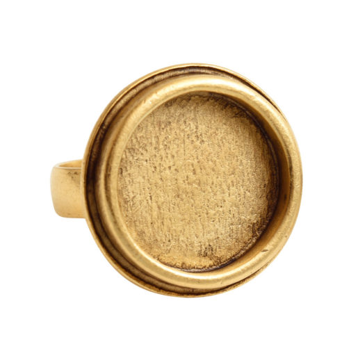 Ring Adjustable Traditional Circle – Antique Gold