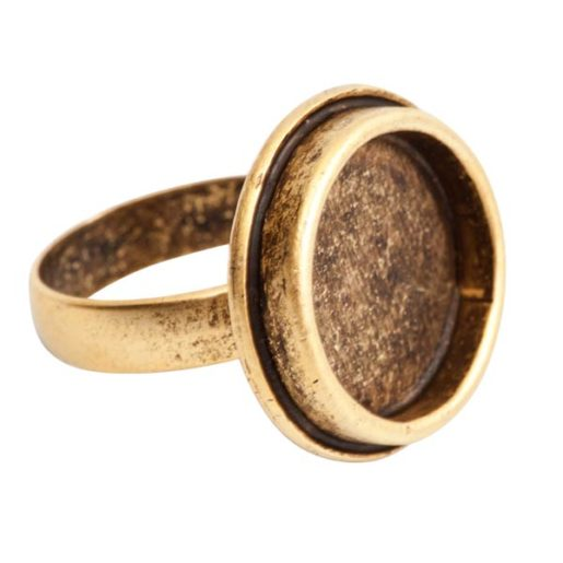 Ring Adjustable Traditional Circle <br>Antique Gold 1