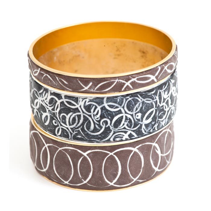 Channel Bangles with Epoxy Clay