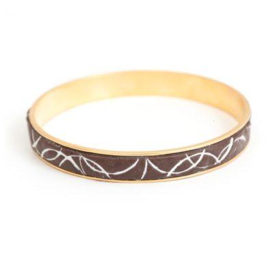 Bangle Bracelet Channel with Epoxy Clay