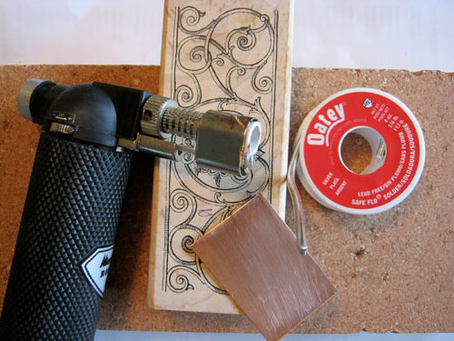 Make Jewelry By Rubber Stamping Melted Solder Nunn Design