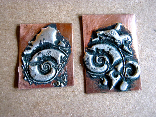 Make jewelry by rubber stamping melted solder nunn design for How to solder copper jewelry