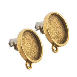 Earring Mini Circle Antique Gold 1