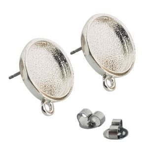 Earring Mini Circle Sterling Silver Plate