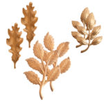 Buy & Try Sculpted Relief Brass Stampings-Foliage 1