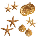 Buy & Try Sculpted Relief Brass Stampings-Sea 1