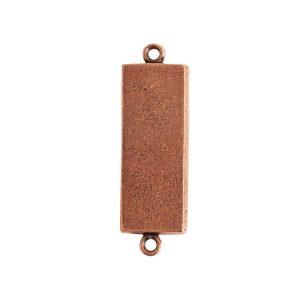 Mini Link Double Loop Long RectangleAntique Copper