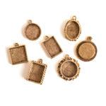 Buy & Try Findings Keepsake-Mini Pendant Antique Gold 1
