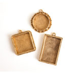 Buy & Try Findings Keepsake-Ornate Pendant Antique Gold 1