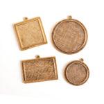 Buy & Try Findings Keepsake-Raised Pendant Antique Gold 1