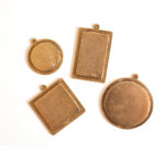 Buy & Try Findings Keepsake-Raised Tags Antique Gold 1