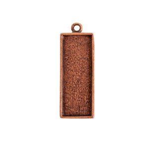 Mini Link Single Long RectangleAntique Copper