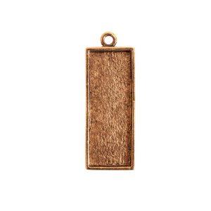 Mini Link Single Long RectangleAntique Gold