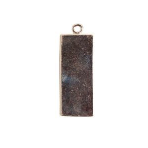 Mini Link Single Long RectangleSterling Silver Plate