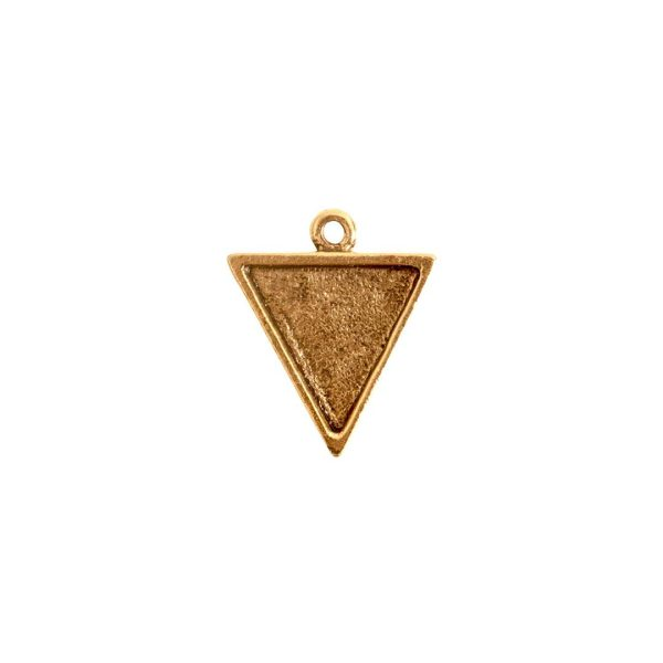Mini Link Single Triangle Antique Gold