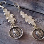 Nunn-Design-Owl-and-Oak-Leaf-Earrings
