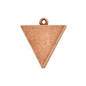 Large Pendant TriangleAntique Copper