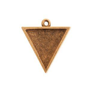 Large Pendant TriangleAntique Gold