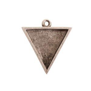 Large Pendant TriangleAntique Silver