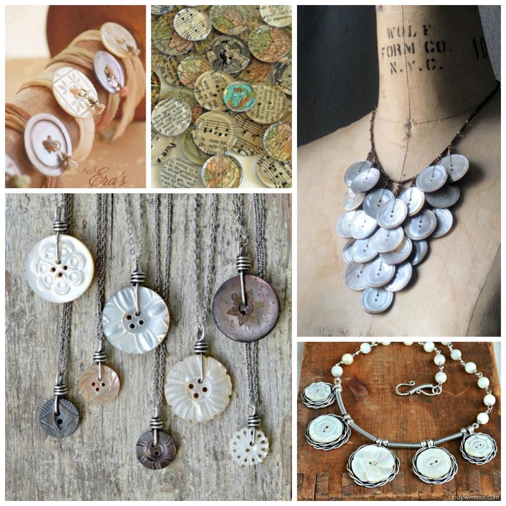 Vintage Button Jewelry Inspiration Nunn Design