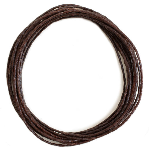 Buy & Try Technique Deerskin Lace-Waxed Thread Brown 10ft 1