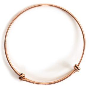 Bangle Bracelet Adjustable GrandeAntique Copper