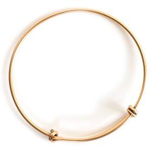 Bangle Bracelet Adjustable GrandeAntique Gold