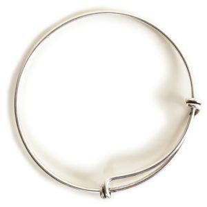 Bangle Bracelet Adjustable GrandeAntique Silver