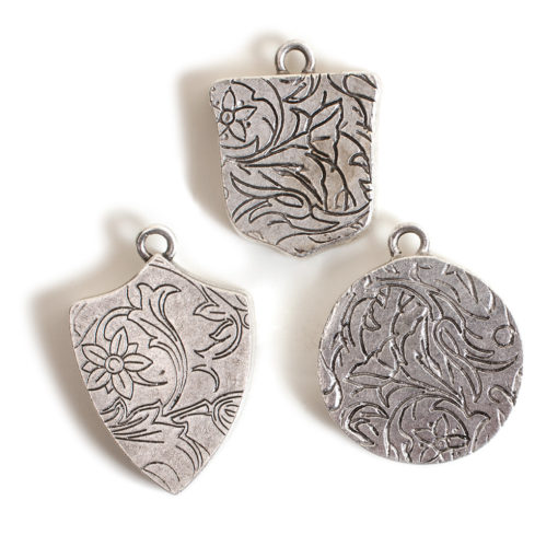 Buy & Try Findings Crest PendantAntique Silver