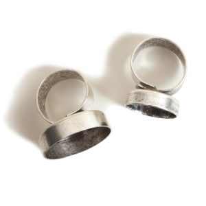 Buy & Try Findings Ring Adjustable Deep Bezel CircleCombo Pack