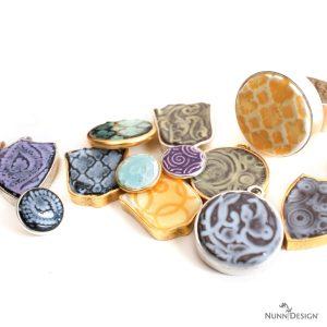 Texturizing & Colorizing Epoxy Clay