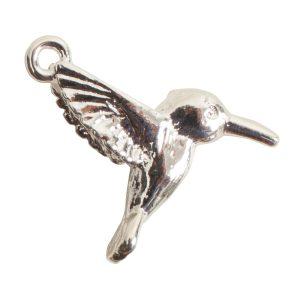 Charm HummingbirdSterling Silver Plate