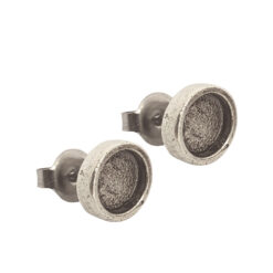 Earring Post Itsy CircleAntique Silver