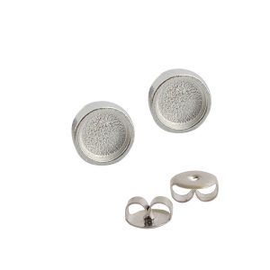 Earring Post Itsy CircleSterling Silver Plate