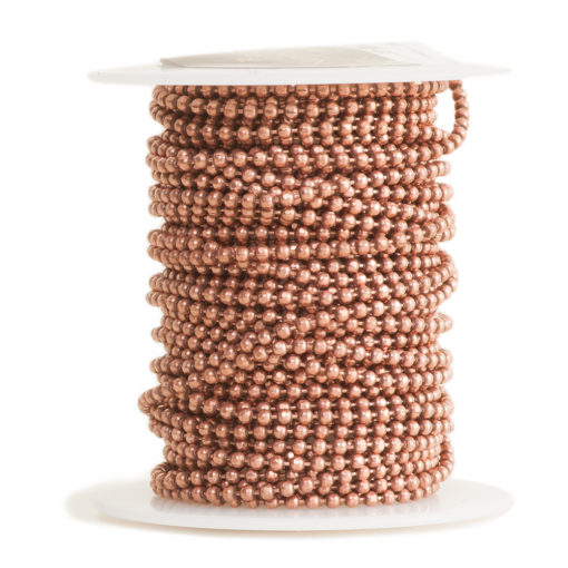 Faceted Bead ChainAntique Copper