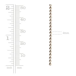 Faceted Bead ChainAntique Gold
